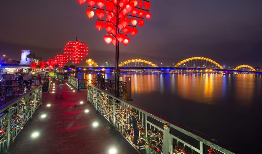 Love Bridge in Da Nang City